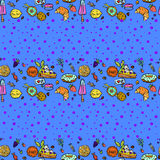 Seamless pattern with sweets. Stock Image