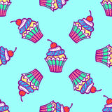 Seamless pattern with sweets. Royalty Free Stock Photo