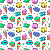 Seamless Pattern With Sweets-04 stock illustration