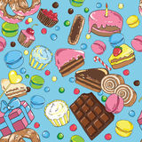 Seamless pattern of sweets Royalty Free Stock Image