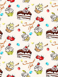 Seamless pattern. Of sweets  illustration Stock Image