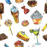 Seamless pattern with sweets Royalty Free Stock Images