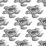 Seamless pattern of swimming turtles Royalty Free Stock Photo
