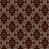 Seamless pattern with the swirl ornament Stock Image