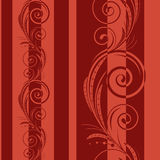 Seamless pattern with swirls. On a red background(can be repeated and scaled in any size Royalty Free Stock Photo