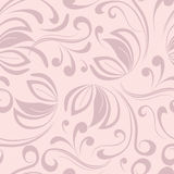 Seamless pattern with swirls. Delicate pink background, vector illustration Royalty Free Stock Image