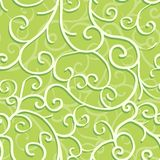 Seamless pattern with swirls. Over green background Stock Photos