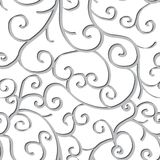 Seamless pattern with swirls. Over white background Royalty Free Stock Photo