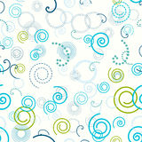 Seamless pattern. Swirls, spiral circle abstract vector background. Stock Images