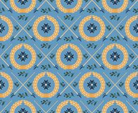 Seamless pattern with swords, wreaths and medals Stock Photography