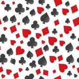 Seamless pattern symbol cards vector illustration
