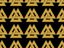 Seamless pattern with the symbol of the god Odin. Valknut. Stock Images