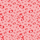Seamless pattern of symbolic hearts Stock Image