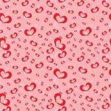 Seamless pattern of symbolic hearts. Illustration of seamless pattern of symbolic heart Stock Image