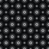 Seamless pattern of symbolic stars. Illustration of seamless pattern of symbolic white stars on a black background Royalty Free Stock Photo