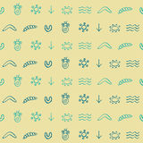 Seamless pattern with symbols of Australian aboriginal art. For your design Stock Illustration