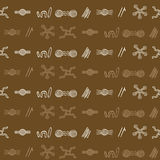 Seamless pattern with symbols of Australian aboriginal art. For your design Vector Illustration