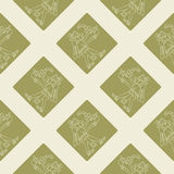 Seamless pattern with symbols from Aztec codices Stock Photo
