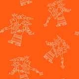 Seamless pattern with symbols from Aztec codices Royalty Free Stock Photos