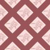 Seamless pattern with symbols from Aztec codices Stock Photography