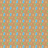 Seamless pattern of the symbols of dollar Royalty Free Stock Photos