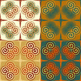 Seamless pattern symmetric Stock Photos