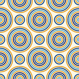 Seamless pattern with symmetric geometric ornament. Abstract background with color round vortexes. Vector illustration Stock Images