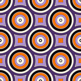Seamless pattern with symmetric geometric ornament. Abstract background with colorful round vortexes. Seamless pattern with symmetric geometric ornament in Stock Photos