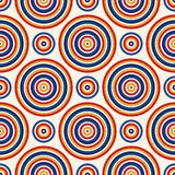 Seamless pattern with symmetric geometric ornament. Abstract background with colorful round vortexes. Royalty Free Stock Images