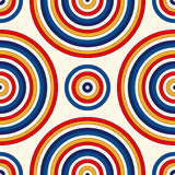 Seamless pattern with symmetric geometric ornament. Abstract background with colorful round vortexes. Stock Photography