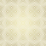 Seamless pattern with symmetric geometric ornament .Abstract ornaments background. Elegant golden wallpaper. Stock Photo