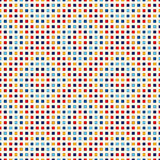 Seamless pattern with symmetric geometric ornament. Abstract repeated bright squares background. Mosaic wallpaper. Vector illustration Royalty Free Stock Images