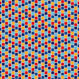 Seamless pattern with symmetric geometric ornament. Abstract repeated bright squares and rhombuses background. Seamless pattern with symmetric geometric Royalty Free Stock Images