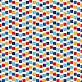 Seamless pattern with symmetric geometric ornament. Abstract repeated bright squares and rhombuses background. Seamless pattern with symmetric geometric Stock Image