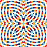 Seamless pattern with symmetric geometric ornament. Abstract stained glass bright background. Ethnic wallpaper. Royalty Free Stock Image