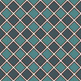 Seamless pattern with symmetric geometric ornament. Blue color diamond abstract background. Mosaic wallpaper. Digital paper, textile print, page fill. Vector Royalty Free Stock Images