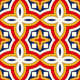 Seamless pattern with symmetric geometric ornament. Bright abstract background. Bright ethnic abstract backdrop. Seamless pattern with oriental, old ornament on Stock Photo