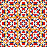 Seamless pattern with symmetric geometric ornament. Bright abstract background. Bright ethnic abstract backdrop. Seamless pattern with oriental, old ornament on Stock Photos
