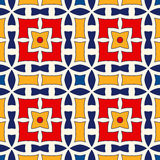 Seamless pattern with symmetric geometric ornament. Bright abstract background. Bright ethnic abstract backdrop. Seamless pattern with oriental, old ornament on Stock Image