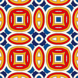 Seamless pattern with symmetric geometric ornament. Bright abstract background. Bright ethnic abstract backdrop. Seamless pattern with oriental, old ornament on Royalty Free Stock Photos
