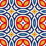 Seamless pattern with symmetric geometric ornament. Bright abstract background. Royalty Free Stock Photography