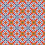 Seamless pattern with symmetric geometric ornament. Bright abstract background. Bright ethnic abstract backdrop. Seamless pattern with oriental, old ornament on Royalty Free Stock Photography