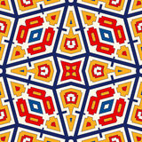 Seamless pattern with symmetric geometric ornament. Bright abstract background. Bright ethnic abstract backdrop. Seamless pattern with oriental, old ornament on Royalty Free Stock Images