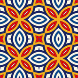 Seamless pattern with symmetric geometric ornament. Bright abstract background. Stock Image