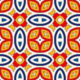 Seamless pattern with symmetric geometric ornament. Bright abstract background. Bright ethnic abstract backdrop. Seamless pattern with oriental, old ornament on Royalty Free Stock Image