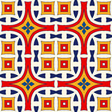 Seamless pattern with symmetric geometric ornament. Bright abstract background. Bright ethnic abstract backdrop. Seamless pattern with oriental, old ornament on Stock Photography
