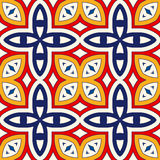 Seamless pattern with symmetric geometric ornament. Bright abstract background. Bright ethnic abstract backdrop. Seamless pattern with oriental, old ornament on Royalty Free Stock Photo