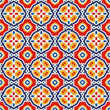 Seamless pattern with symmetric geometric ornament. Bright abstract background. Bright ethnic abstract backdrop. Seamless pattern with oriental, old ornament on Stock Images