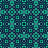Seamless pattern with symmetric geometric ornament. Bright abstract background. Bright ethnic abstract background. Seamless pattern with oriental, old ornament Stock Image