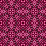 Seamless pattern with symmetric geometric ornament. Bright abstract background. Bright ethnic abstract background. Seamless pattern with oriental, old ornament Royalty Free Stock Photo